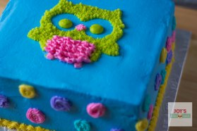 Chocolate Cake with Owl - Customized request for a birthday party