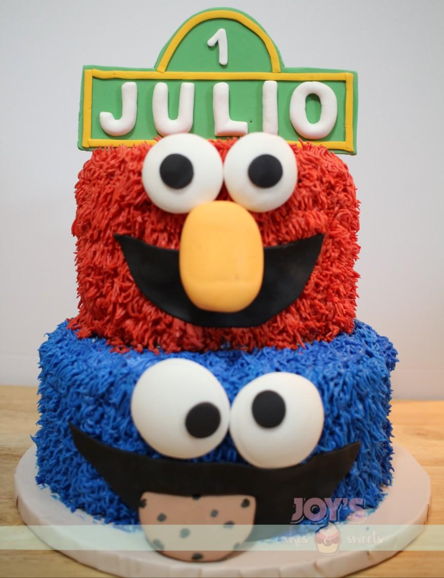 Sesame Street Themed birthday cake