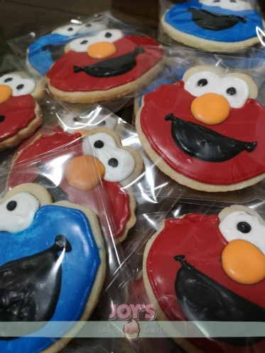 Elmo and Cookie Monster Cookies