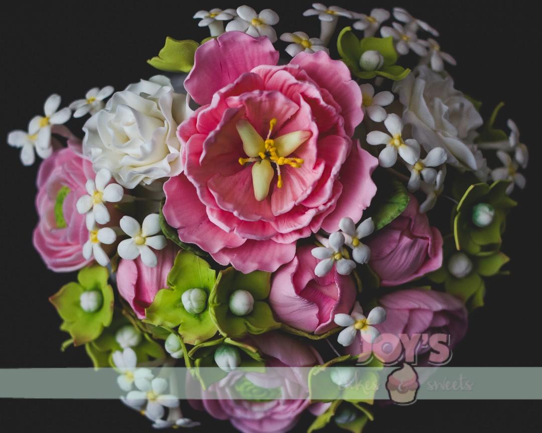 Peonies, Ranunculus, Rose, Hydrangea and White Filler flowers