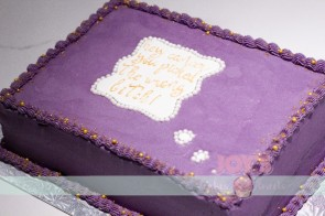 This cake was ordered by a sweet lady to celebrate her friend's cancer survival